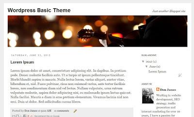 Wordpress theme for Blogger