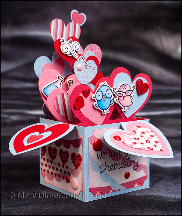 Awash With Color Svg Cuts Valentine S Day Chemistry Box Card