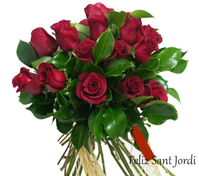 Ramo de rosas para sant jordi