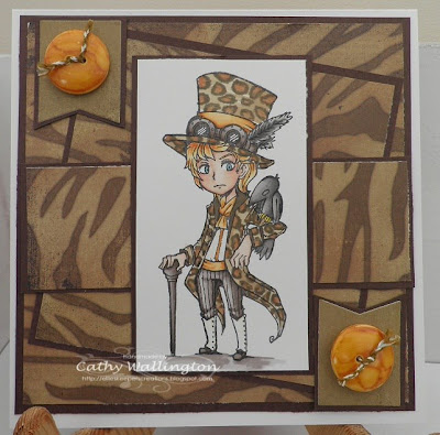 visible image stamps steampunk character