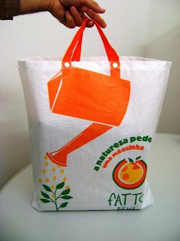 sacolas de rafia branca tradicional