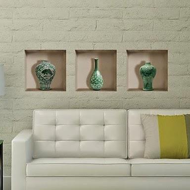 Decora con vinilos trampantojos con vinilos 3d for Pegatinas de pared baratas