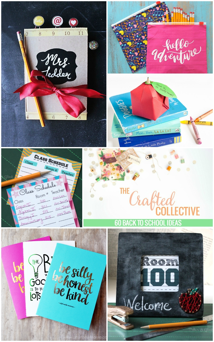 60 Back to School Ideas--From organization to teacher's gifts, this collection is sure to prepare you for the return to school. pitterandglink.com