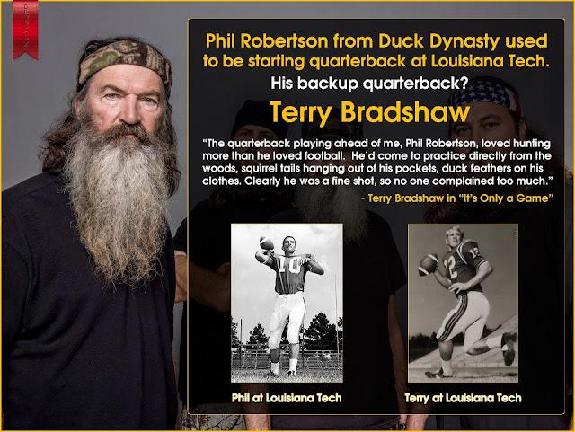 Phil Robertson Football Terry Bradshaw