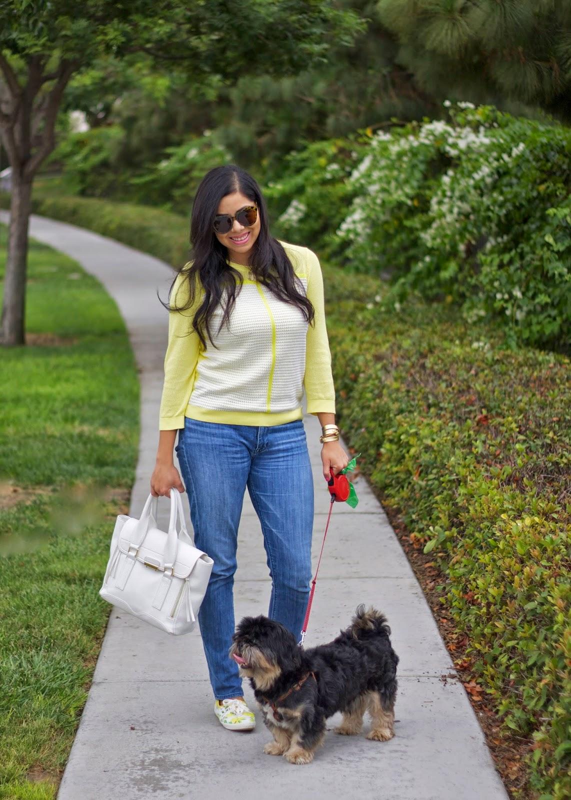 San Diego fashion blogger, yellow casual attire, kate spade keds lemons, lemon print fashion