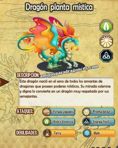 imagen de las caracteristicas del dragon planta mistica
