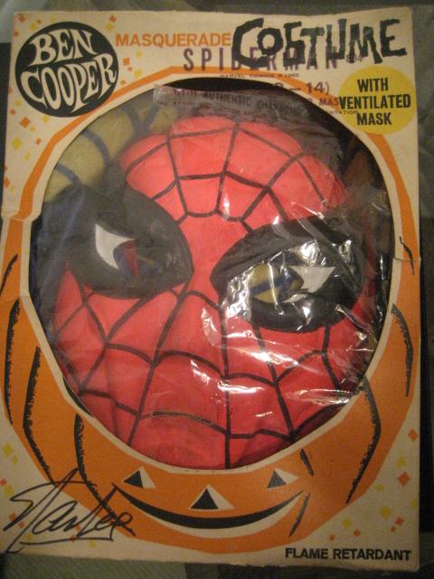 1963 ben cooper spider man halloween costume