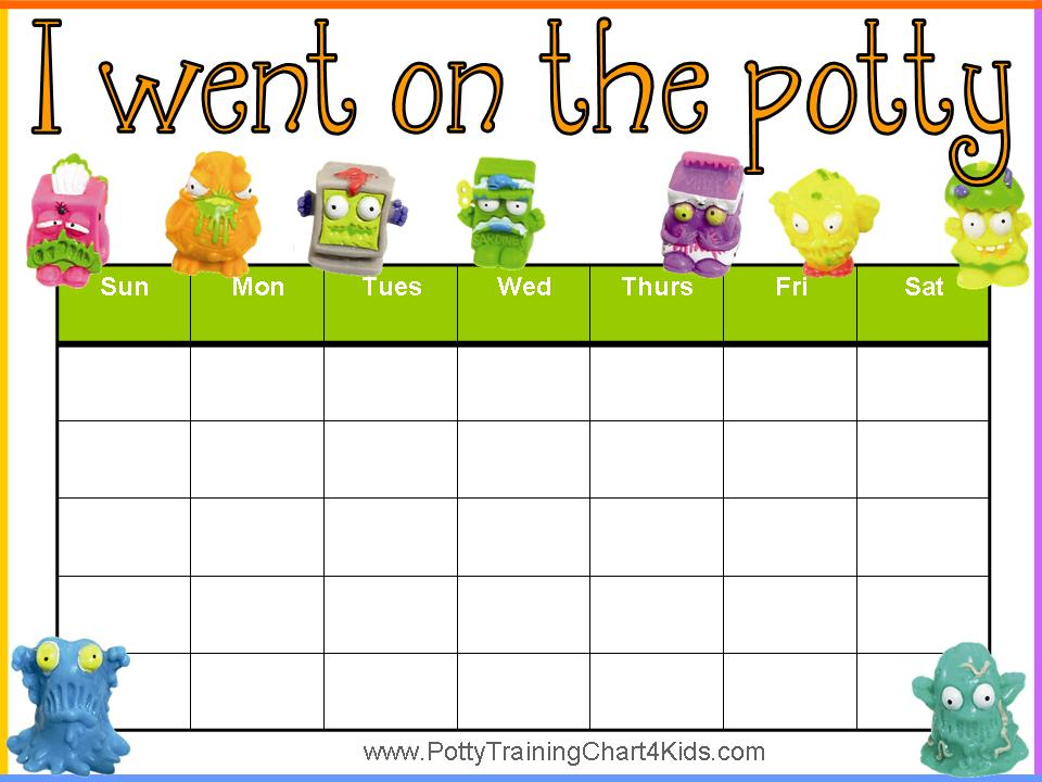 Effortless image inside printable potty training chart