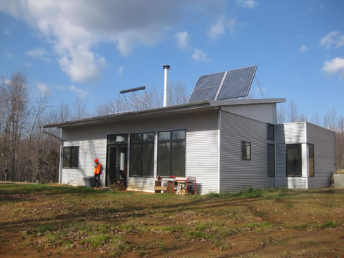 Prefab Home Brings Passive Solar Cozy Into Winter