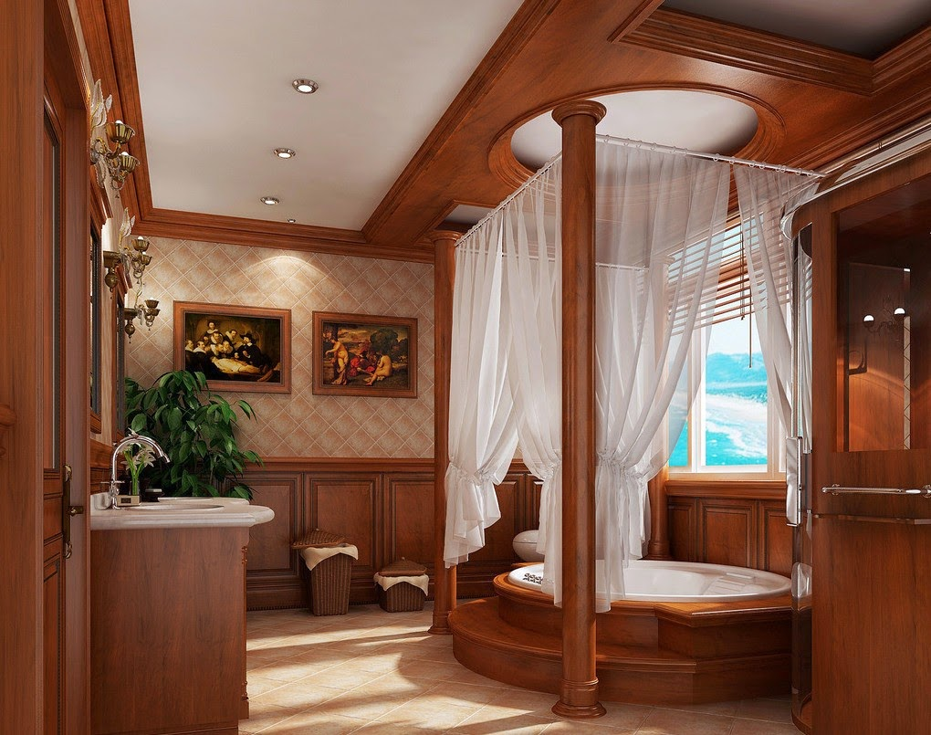 Salle de bain style montagne: ambiance chalet : la déco a du ...