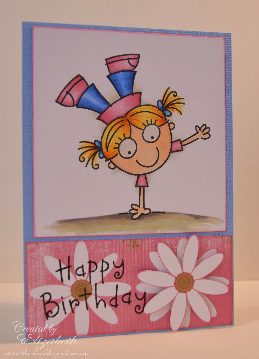 Elizabeth Whisson, Annabelle Stamps, happy birthday, CAS, copics, copic