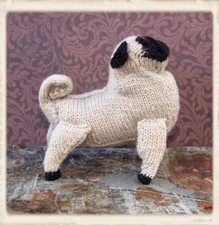 Knitted Pug Pattern : Bead Knitter Gallery: Pug