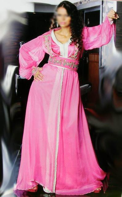 caftan marocain rose, caftan 2013