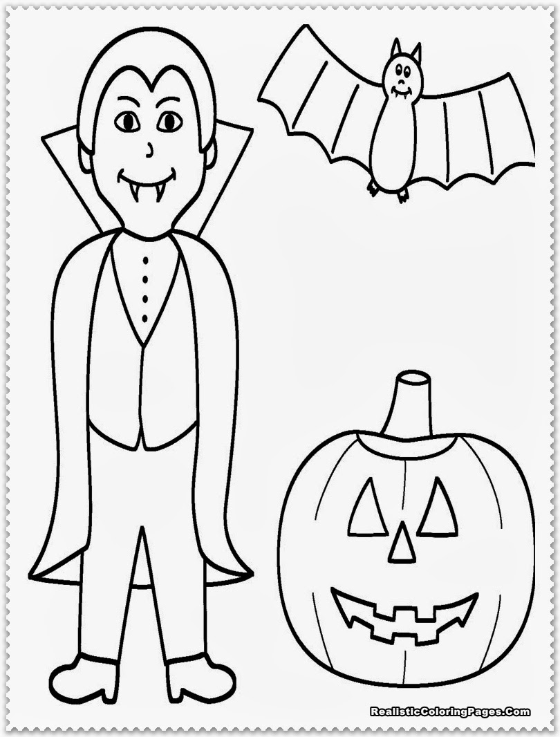 realistic halloween coloring pages - photo#23