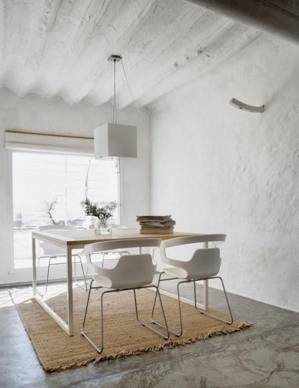 zona comedor de diseño minimalista