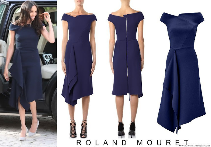 Meghan Markle Wore a Roland Mouret Dress to Arrive at Cliveden House