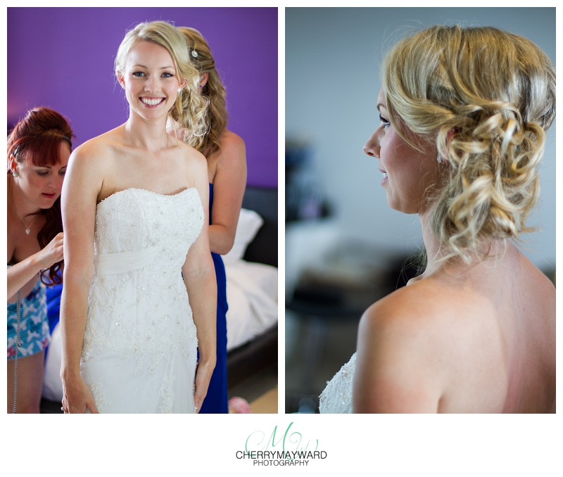Bride getting ready, beautiful, hair and makeup by Dany Lopez, Koh Samui Wedding