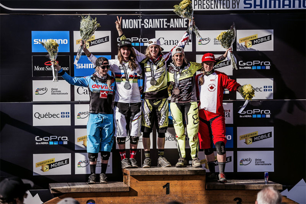 2015 Mont Sainte Anne UCI World Cup Downhill: Women's Podium Results