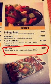 The price of chin chin in a lagos resturant will shock you (photo)