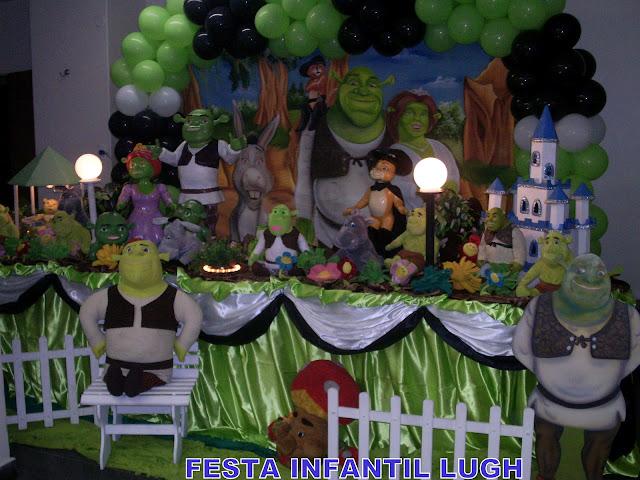 Decoração infantil para aniversário - Tema Shurek