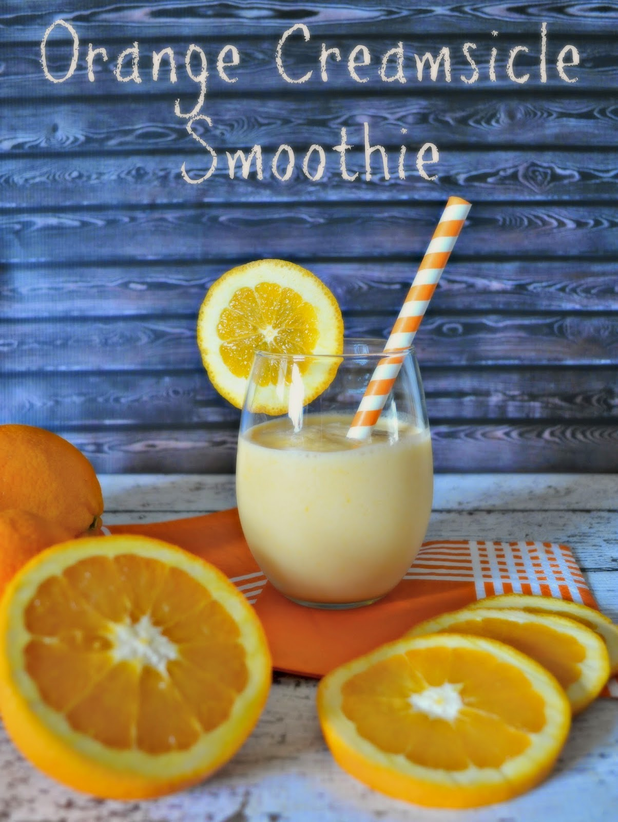 Fueling Our Mornings with NESTLÉ®: Orange Creamsicle Smoothie #Recipe Orange Creamsicle recipe.  Breakfast smoothies with Carnation Breakfast Essentials powdered drink mix.  NESQUIK® Powder