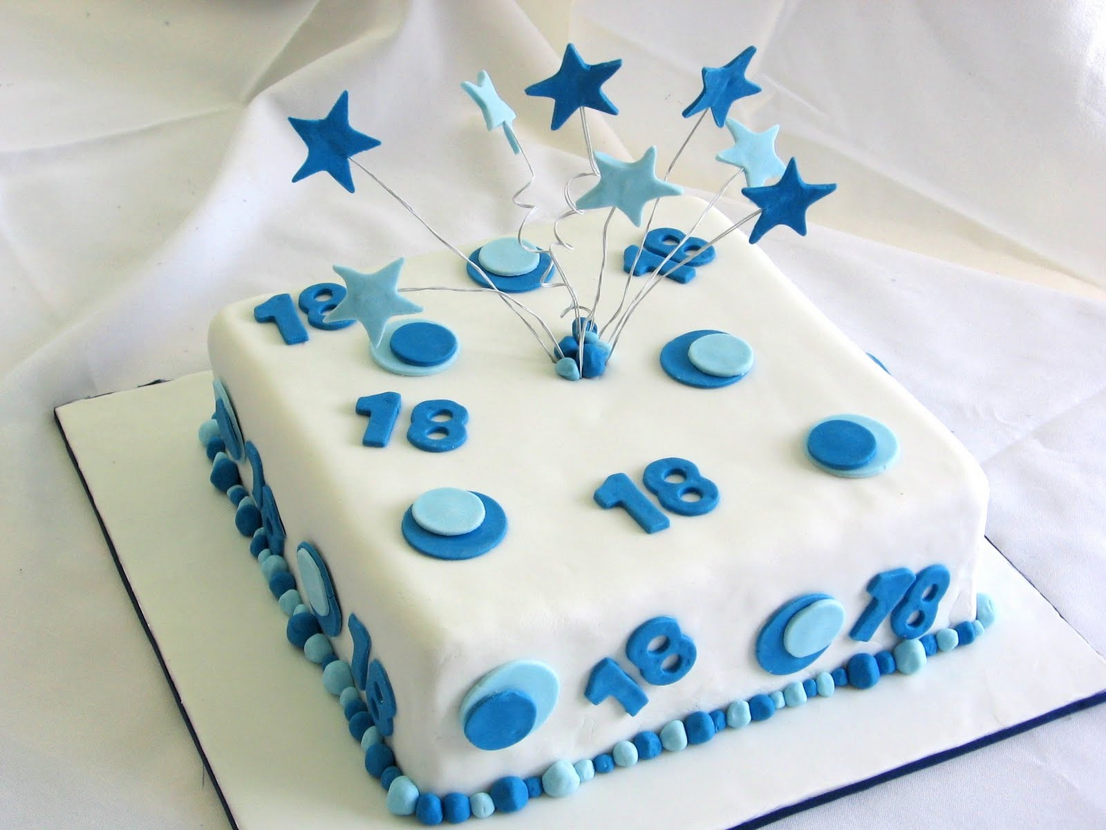 This cake was for an 18th birthday for a boy, white chocolate mudcake ...