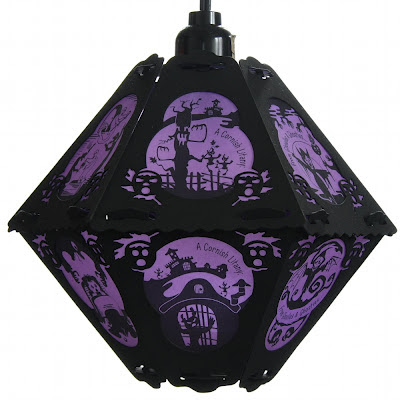 The Cornish Litany paper lantern of Ghoulies and Ghosties by Bindlegrim is perfect for Halloween