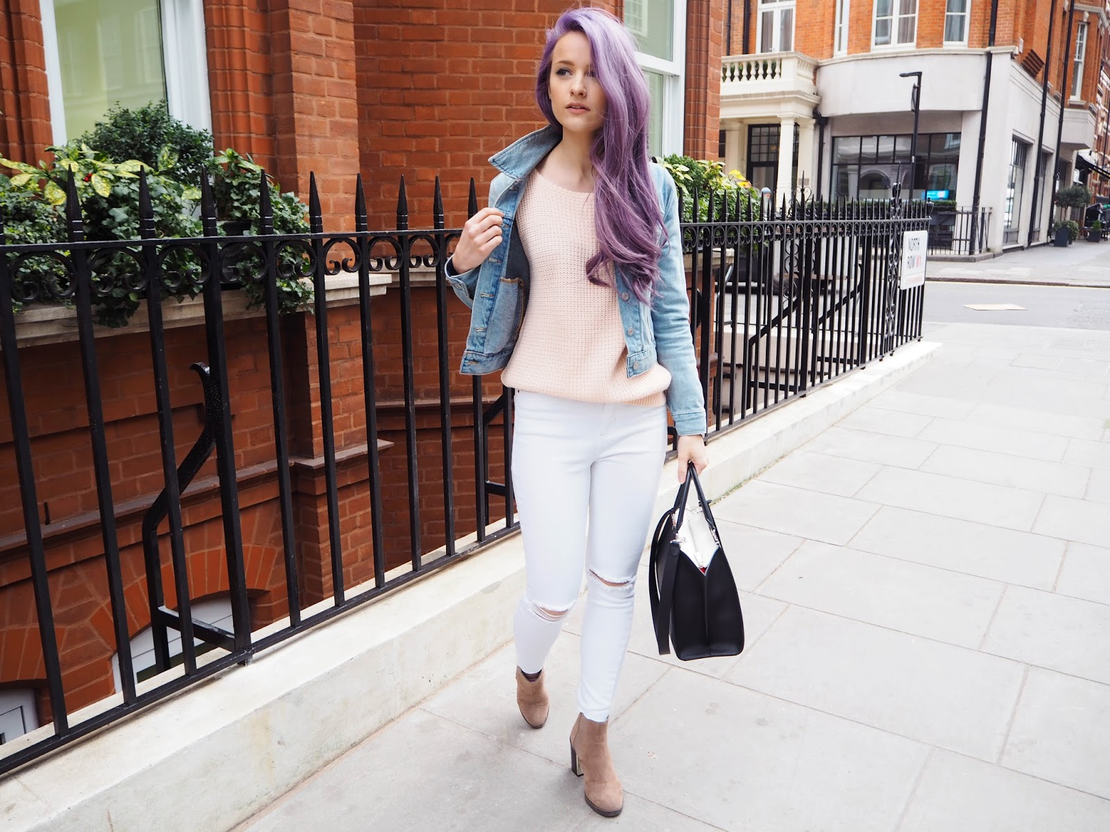 Spring Trend: White Ripped Jeans