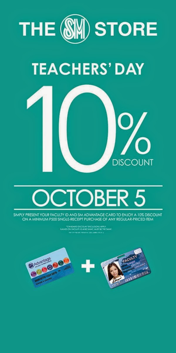 The SM Store: Teachers' Day Promo October 5, 2014