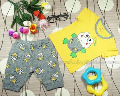 Bộ Ếch Con màu Vàng - babystyle.com.vn