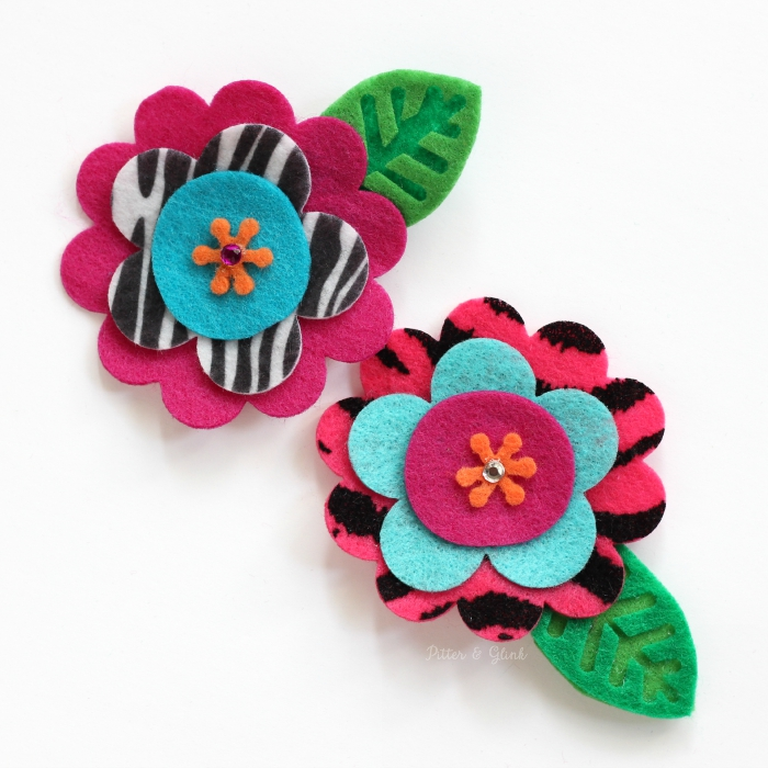 Handmade Felt Flower Hair Clips--The perfect inexpensive accessory for the little girl in your life! www.pitterandglink.com
