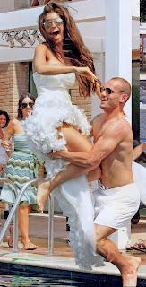 Wesley Sneijder With His Girlfriend Yolanthe Cabau