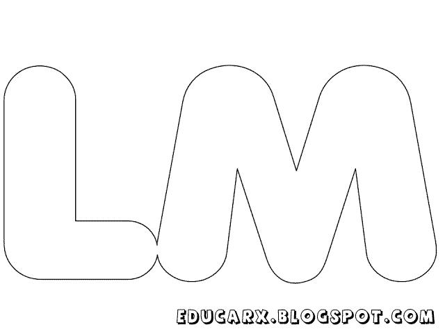 Molde de letras grandes lm