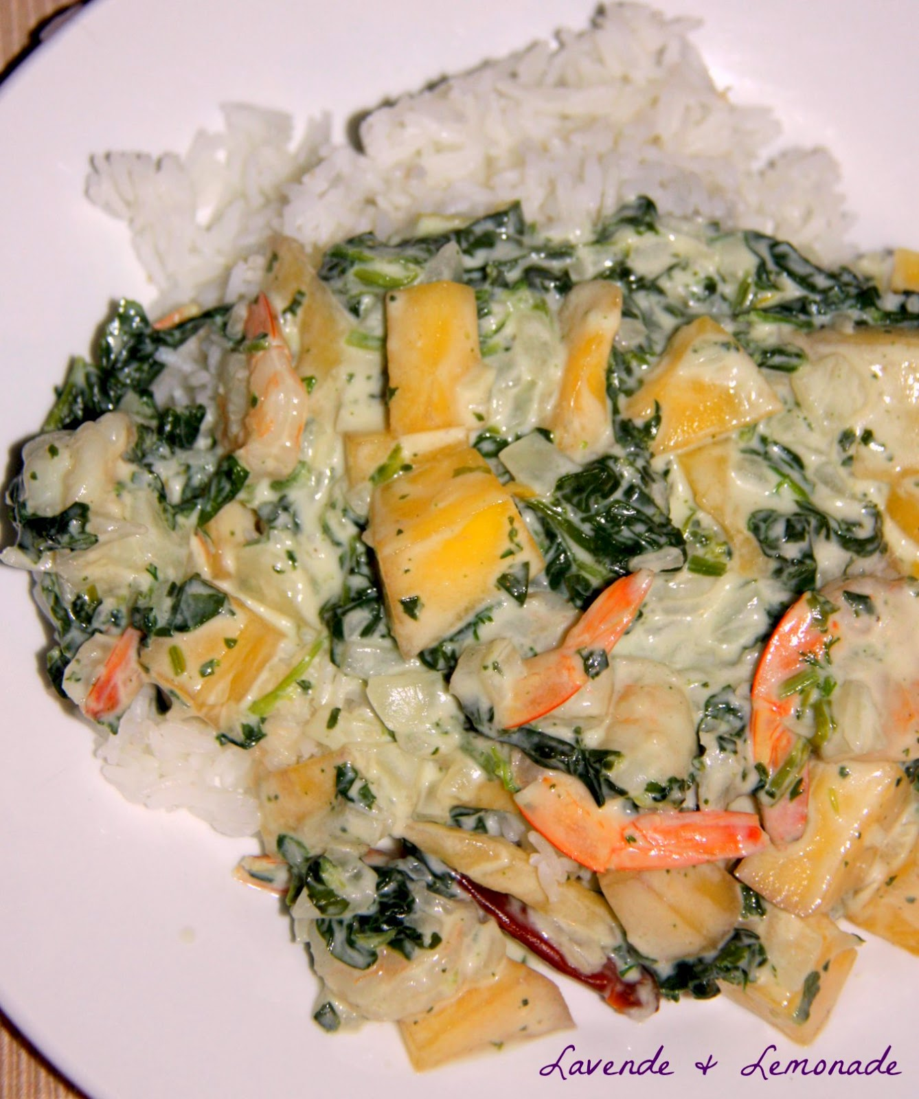 Amazing Thai Coconut Mango Shrimp!  Get the recipe at Lavende & Lemonade