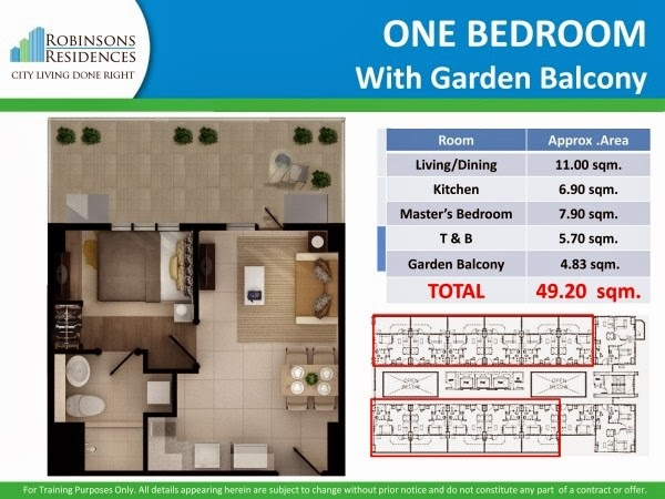 Delta Residences Davao - One Bedroom with Garden Balcony