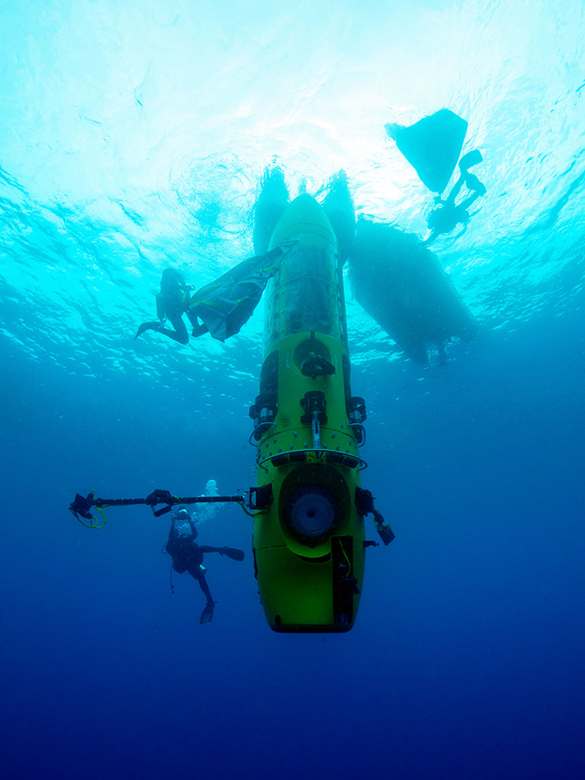 Rolex Deepsea Challenge Attached To Robotic Arm On Deepsea