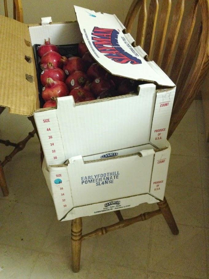 Boxes of Pomegranates