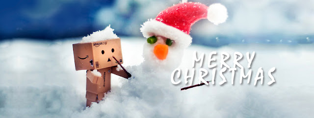 Merry Christmas snow Facebook covers
