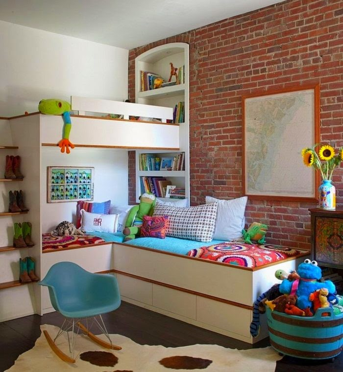 Awesome Space Saving Ideas For Small Kids Room, Small Childrenu0027s Space Saving Room  Design