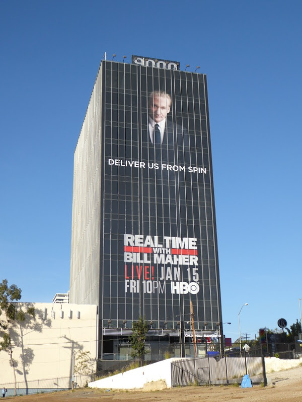 Giant Real Time Bill Maher season 14 billboard