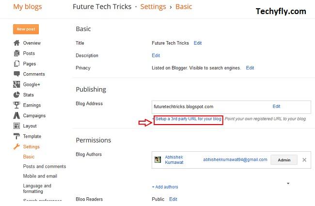 Setup Custom Domain Blogger From Bigrock
