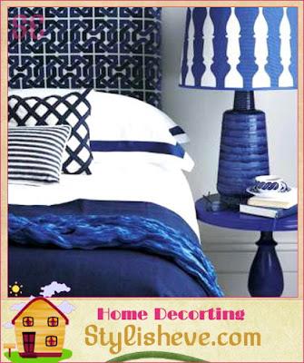 Dormitorios en colores azul y blanco