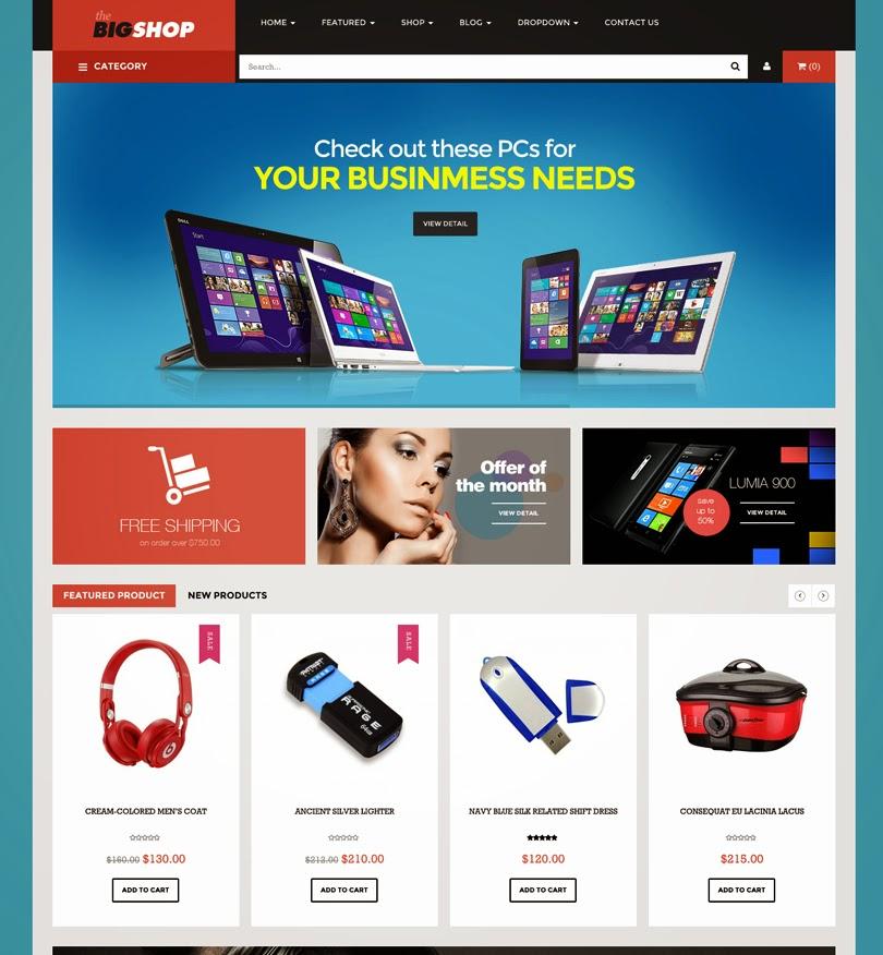 BigShop – WooCommerce Responsive WordPress Theme