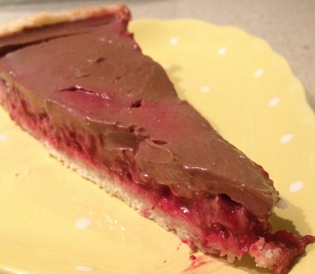 tarte chocolat framboises surgelées ganache