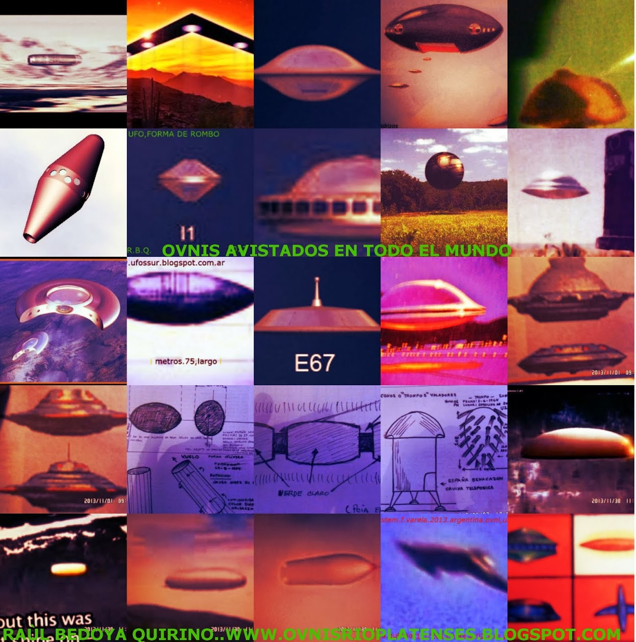 FORMA DEE OVNIS.UFOS.AVISTADOS EN EL MUNDO..