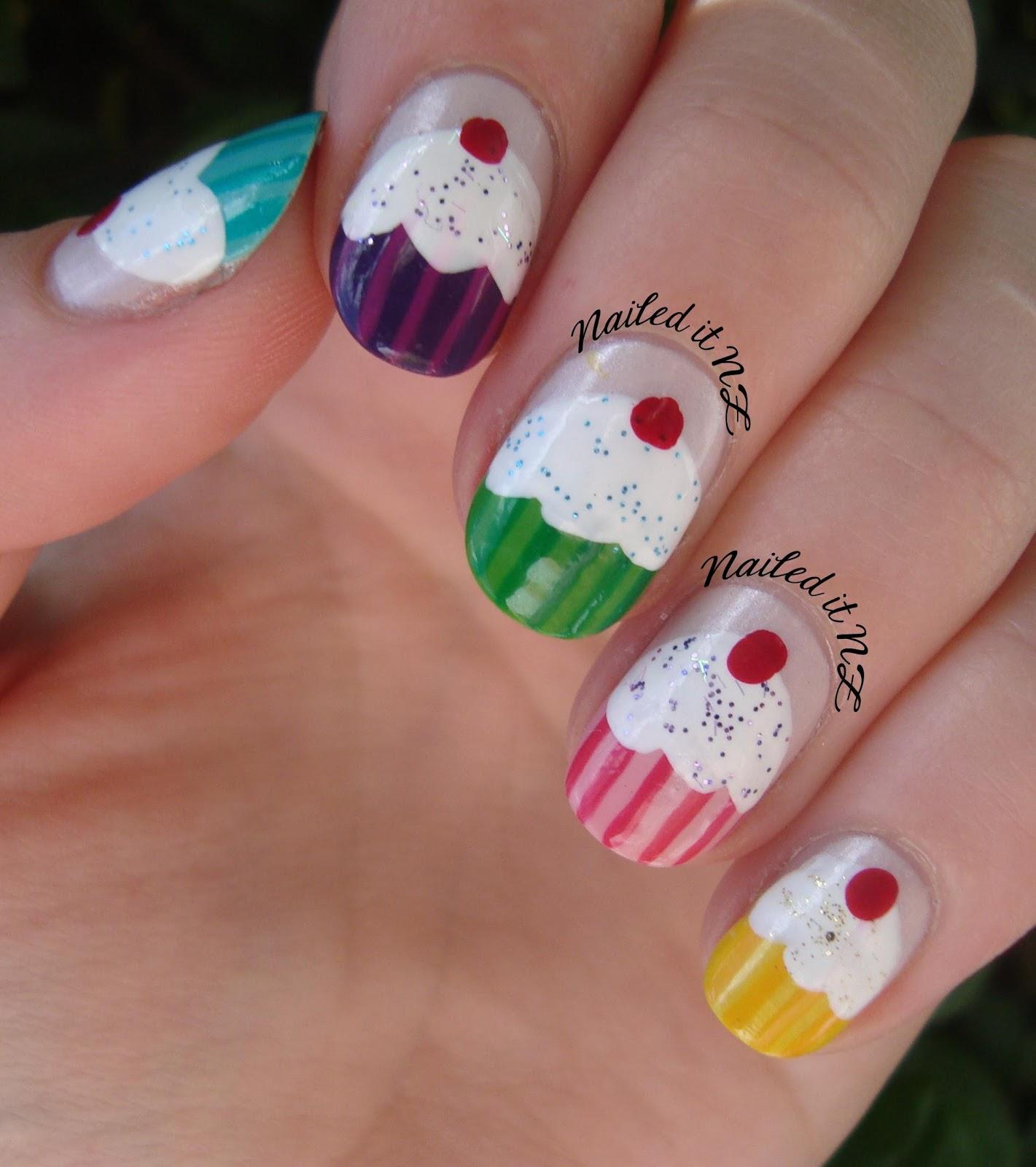 Nail art for short nails 6 cupcake nails nailed it nz prinsesfo Choice Image