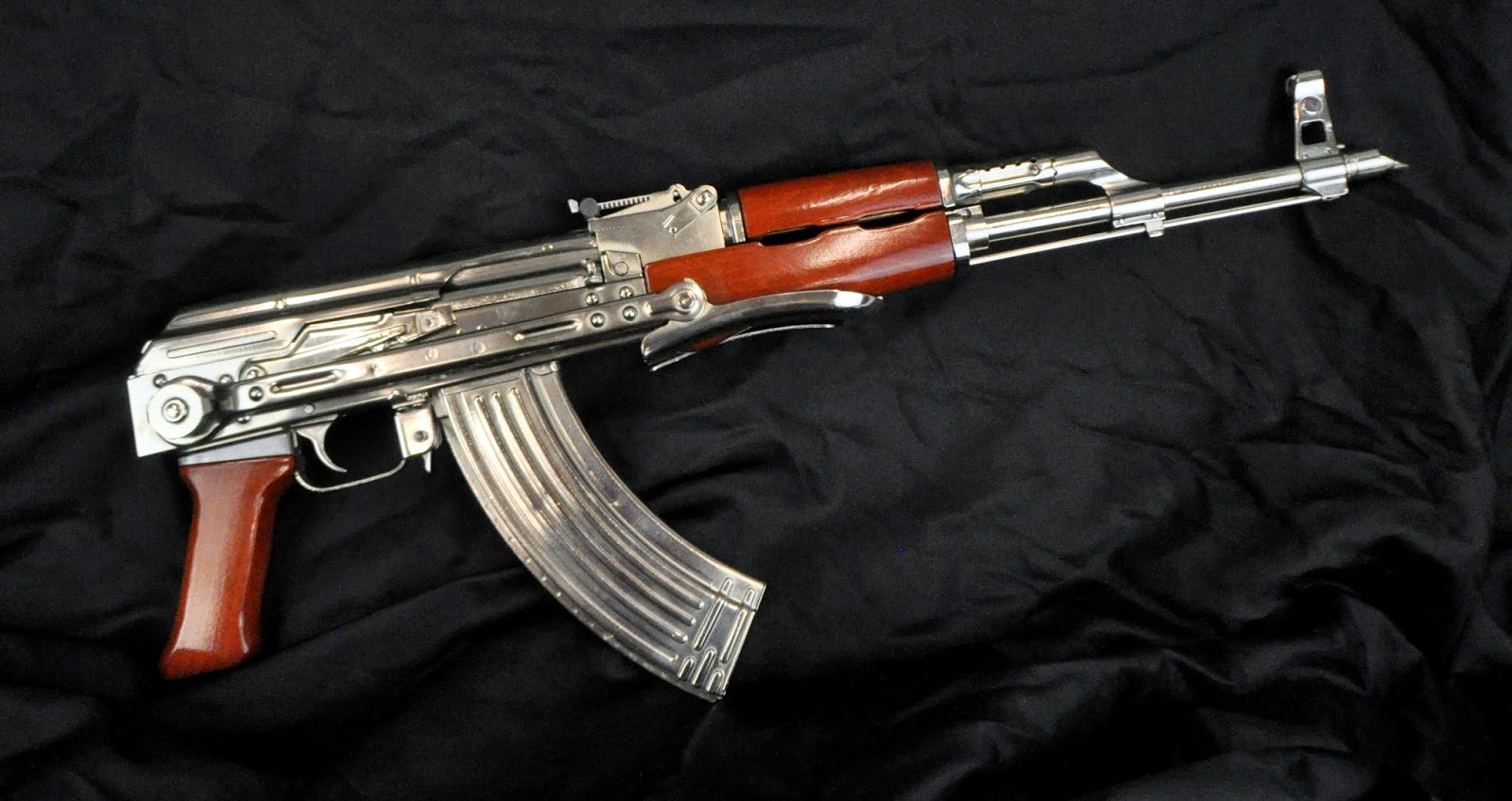 Nickel plated AK47