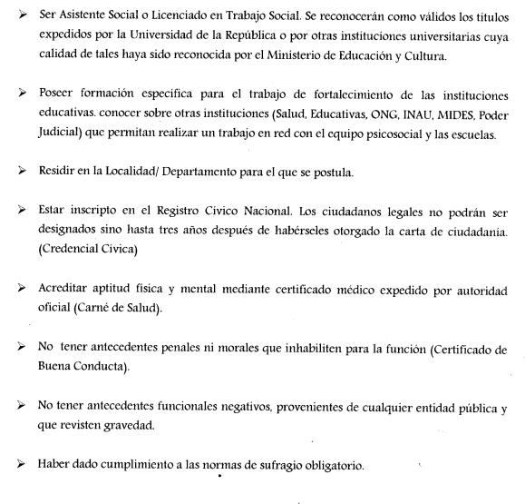 Llamado ceip licenciados en trabajo social asistentes for Ceip llamados