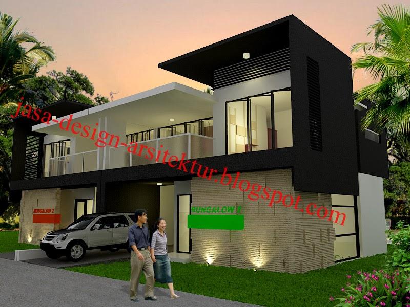 Kontraktor interior surabaya sidoarjo desain villa minimalis modern harmoni dengan alam - Modern vila design ...