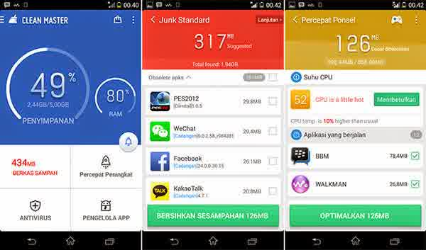 download clean master booster apk